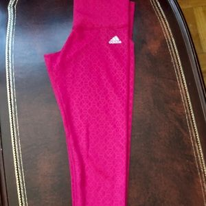 Woman's Pink Adidas Leggings